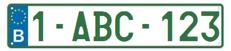 europese nummerplaat voor bedrijven