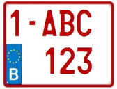 europese nummerplaat motor