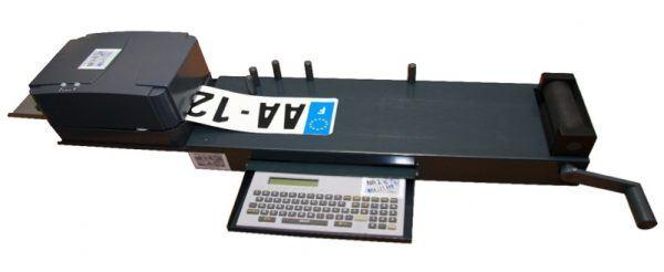 nummerplaatmachine