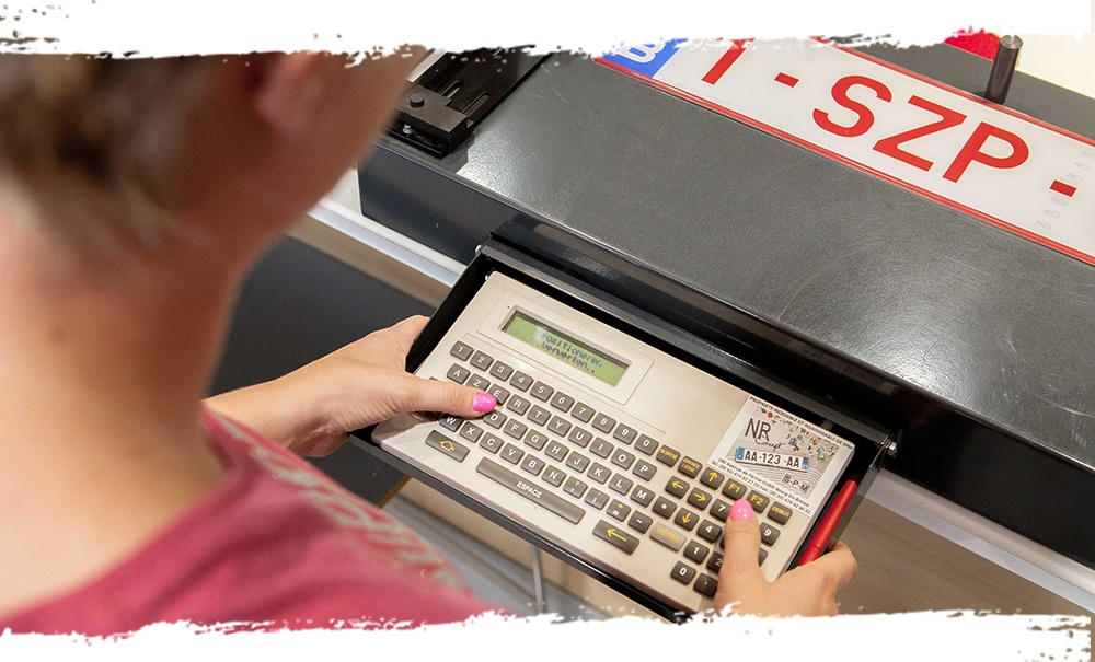 nummerplaat toestel keyboard intersale